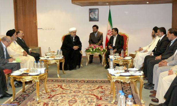 president AHMADINEJAD meets AZERBAIJANi Cleric